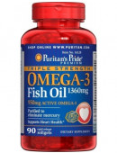 Puritan's Pride Omega-3 Triple Strength 1360mg (90 капс)