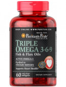 Puritan's Pride Omega 3-6-9 Triple Maximum Strength 1200 mg (60 капс)