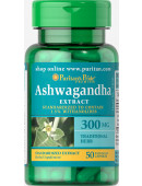 Puritan`s Pride Ashwagandha Standardized Extract 300 mg 50 caps (0 капс)