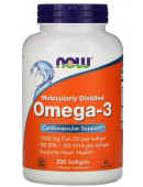 NOW Omega 3 Enteric (180 капс)
